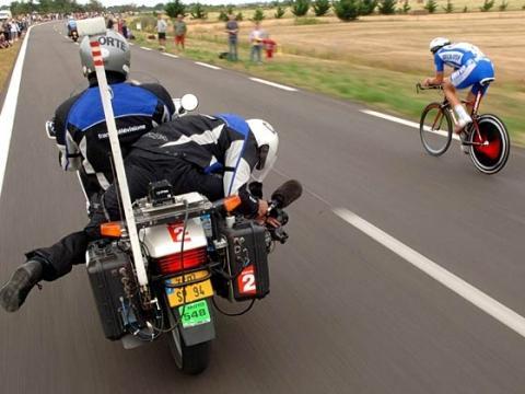 """Kamera-Motorrad """"Tour de France"""" - (Fahrrad, Tour de France)"""
