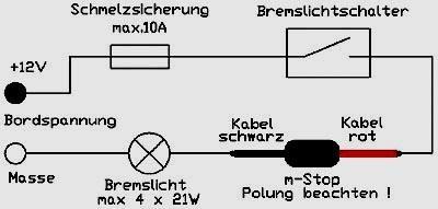 Bremslichtschaltung mit irgendwas (Quelle s. Link) - (Bremslicht, brake light flasher, intermittierend)