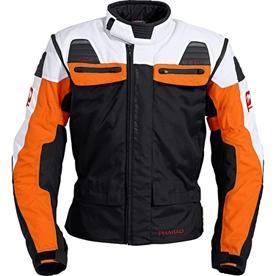 Pharao Atacama weiß / orange - (Motorrad, Umfrage, Helm)