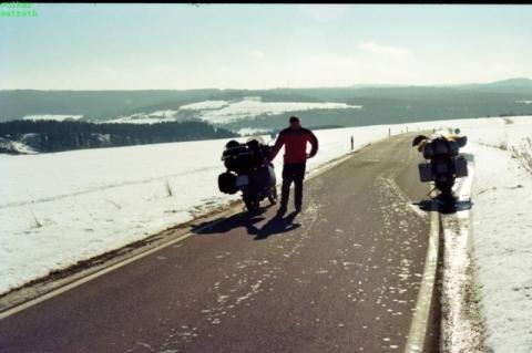 Endurist in der Eifel / Februar 2010 - (Motorrad, Winter)
