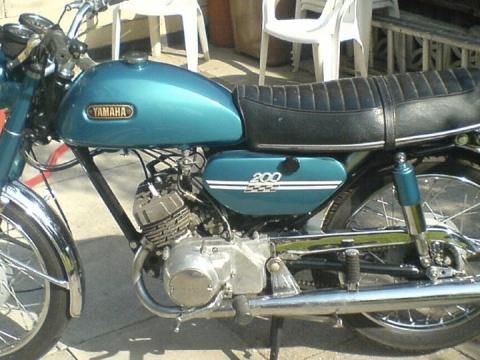 Yamaha RD200 - (Material, Motorblock, Rahmenkonstruktion)