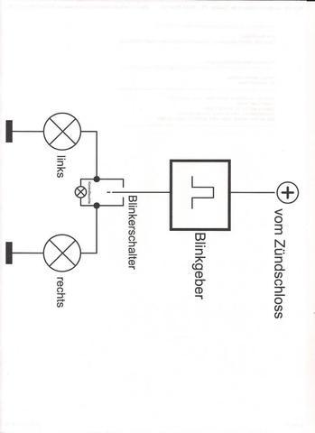 """""""normale Blinkerschaltung mit einer Kontrollleuchte - (Schaltplan, Schaltsymbole)"""