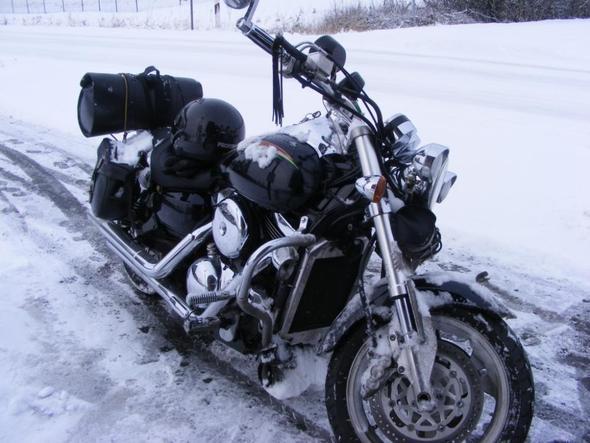 Mit meiner VN Mean Streak 2010 - (kälte, Winterfahrer)