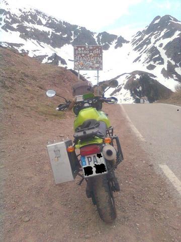 Passo del Manghen - (Reiseenduro, Tourenmotorrad, großes motorrad)