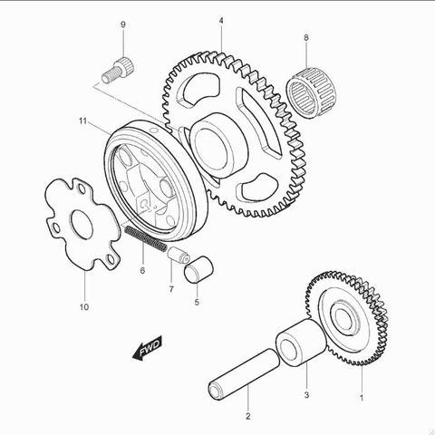 Detailfoto - (Startprobleme, Anlasser, Benelli)