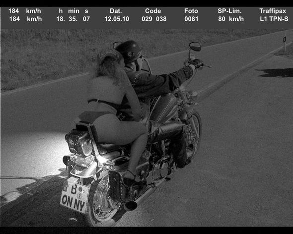 Blitz-Bo - (Motorrad, Blitzer)