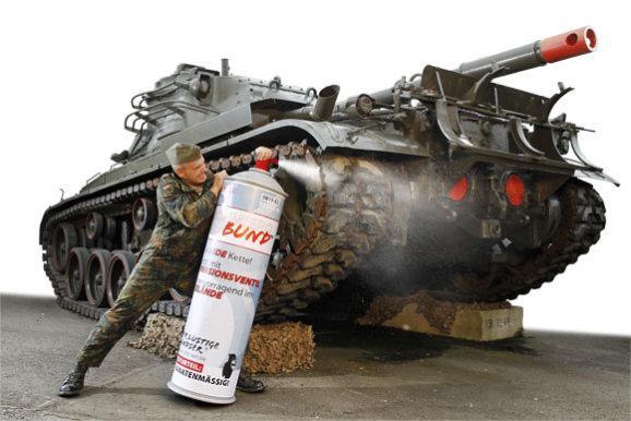 Panzerkettenpflege - (Kettenspray, weisses)