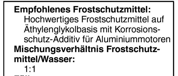 Art des Frostschutzes - (Yamaha, Winter, Kühlung)