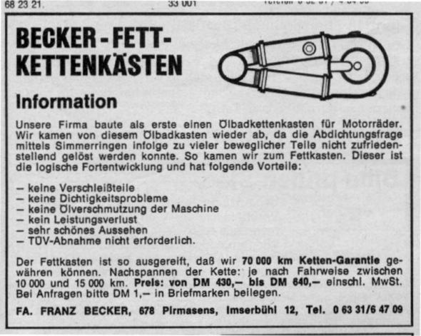 Beckerkasten - (Verkleidung, Kettenfett)