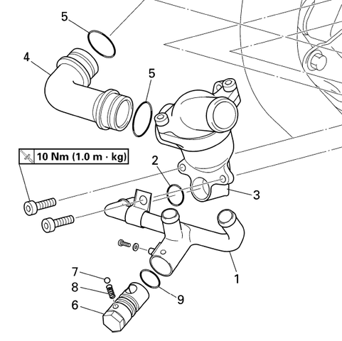 Übersicht der Teile - (V-Max 1200, Ablassventil Kühler)