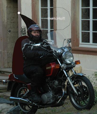 St Nicolausi auf seiner Trine :-) - (Biker-Weihnatchten, Frohe Weihnacht)