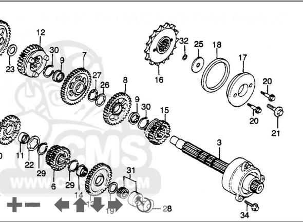 Getriebeabgangswelle - (Motor, Kette, Getriebe)