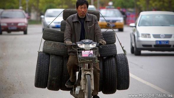 Geht auch mit ein paar Reifen mehr. - (umbau- reifen, kreidler 125ccm)