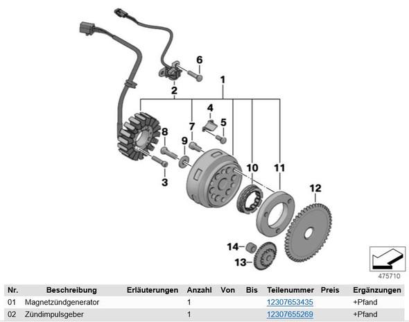 BMW-C1_Zündimpulsgeber - (BMW C1, Drehzahlfühler)