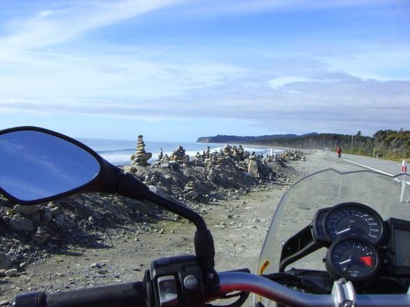 Westküste Südinsel Neuseeland auf unserer Tour damals :) - (Motorradtour, Anfänger, Neuseeland)