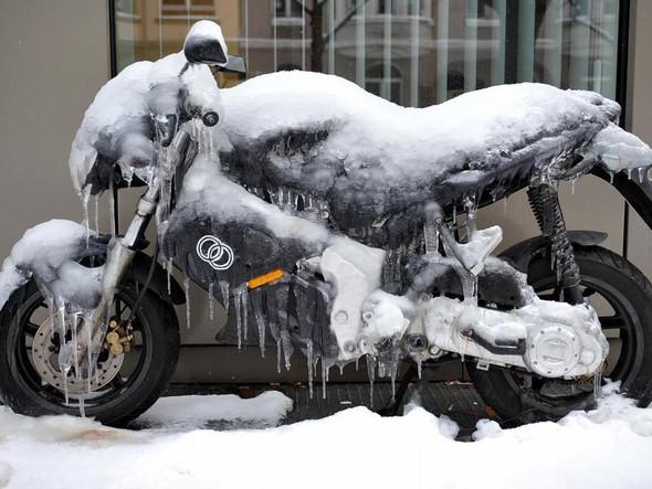 Eisbike - (Temperatur, Schwachsinn, fehlende Grundintelligenz)