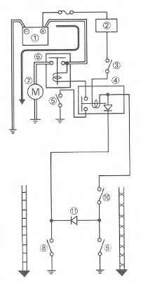 Schaltplan Anlasser  - (Motorrad anlassen, mit Gang)