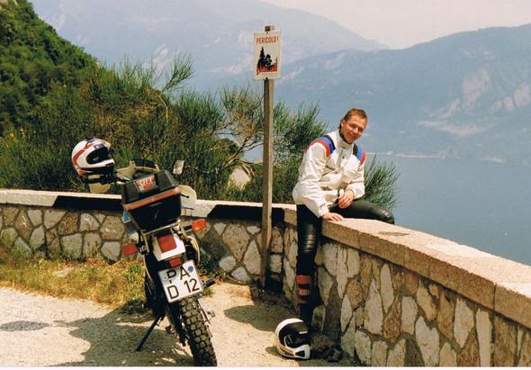 Mit der DR 600 Dakar am Lago - (Welches Motorrad, Enduro oder Supermoto)