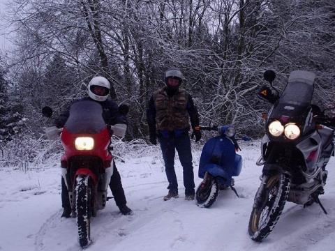 T.J., Ralle & Manni in Plettenberg/ Sauerland - (Enduro, Winter, Schnee)