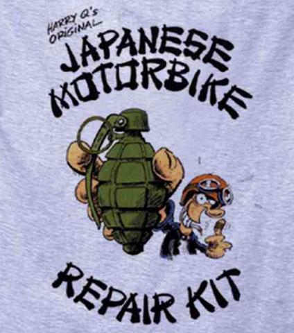 Japanese Motorcycle Repair Kit - (Aufkleber, Japaner)