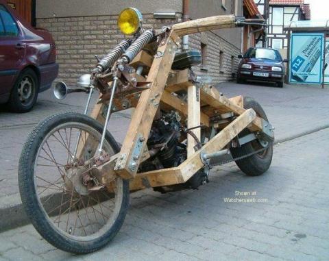 Bilduntertitel eingeben... - (Motorrad, Verkleidung, Holz)