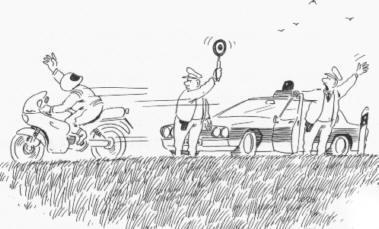 Hand zum Gruß !!! - (Fahren, Biker, Gruß)