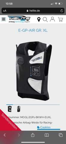 Andere Lederkombi wegen Airbag?