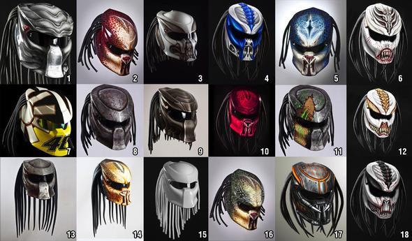"""Helmet Predator 2"" (Motorrad Helm)"