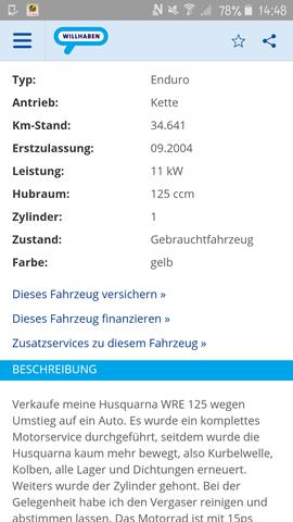 willhaben - (Husqvarna WRE125 kaufen)