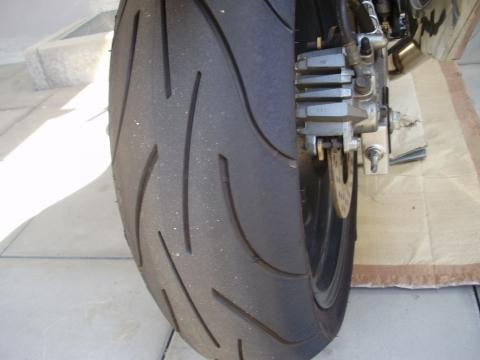 hinten - (Reifen, Michelin Pilot Power, Reifenabnutzung)