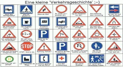 Verkehrszeichen und ihre Bedeutung - (Bedeutung, Blödsinn, Verkehrszeichen)