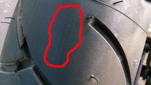 Komische Streifen am Hinterrad, die immer schlimmer werden, fehltproduktion ?