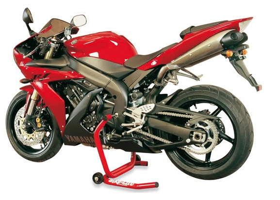 Motorrad über Schwingenachse aufbocken?
