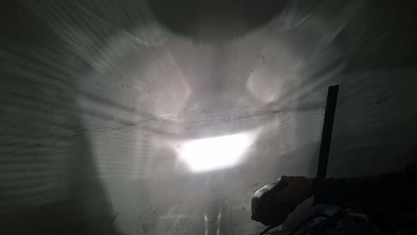 Fernlicht nah an der Wand - (Scheinwerfer, MT 03)