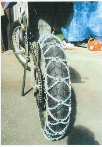 Schneeketten für Motorräder - (bike, Schneeketten)
