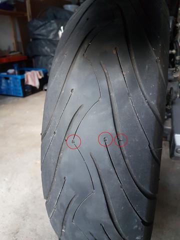 Hinten - (Reifenverschleiss erkennen)