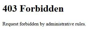 Forbidden - (Forum, Technisches Problem)