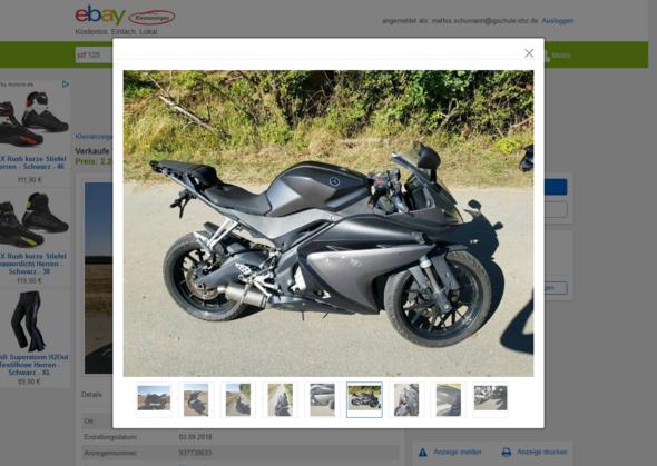 - (Motorrad, Yamaha, 125ccm)