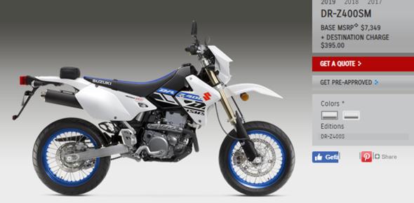 Würde man eine Suzuki DRZ BJ 2019 von Amerika hier angemeldet bekommen?