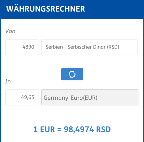 Der Währungsrechner - (auslandskauf)