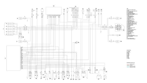 Schaltplan, falls es jemandem hilft :) - (Batterie, Lichtmaschine, aprilia rs4)